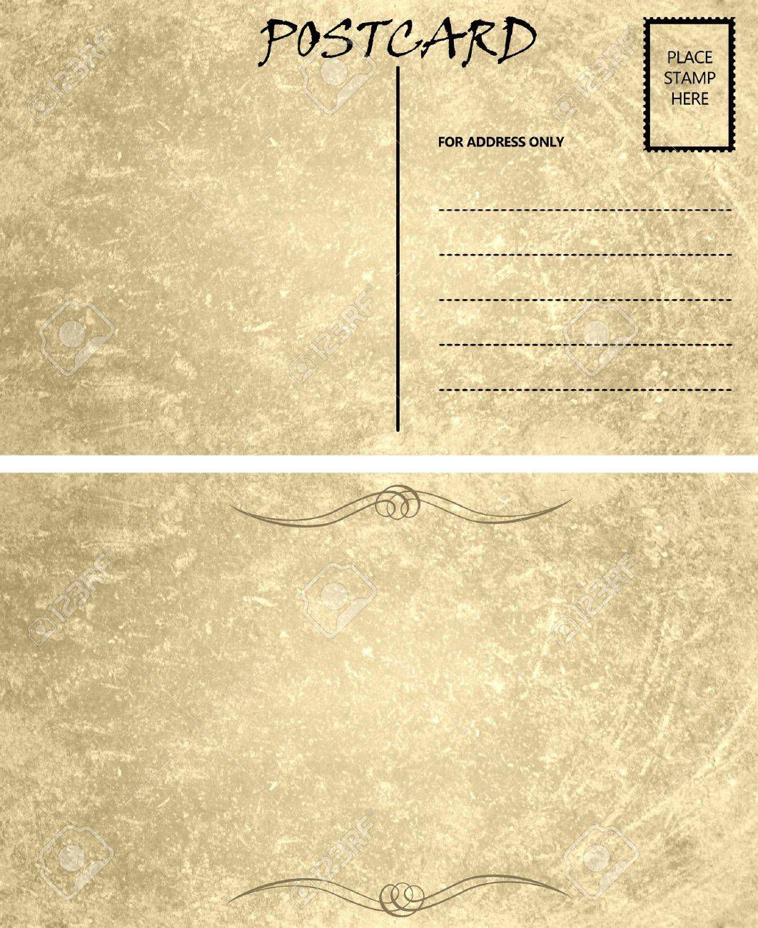 003 Impressive Postcard Template Front And Back Inspiration  Free WordFull