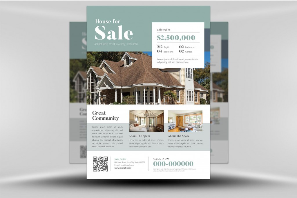003 Impressive Real Estate Flyer Template High Resolution  Publisher Word FreeLarge