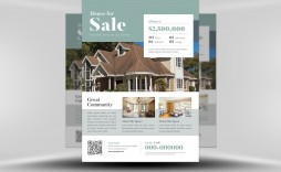 003 Impressive Real Estate Flyer Template High Resolution  Publisher Word Free