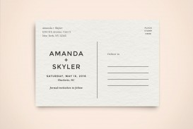 003 Impressive Save The Date Postcard Template Example  Diy Free Birthday