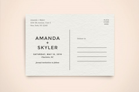 003 Impressive Save The Date Postcard Template Example  Diy Free Birthday480