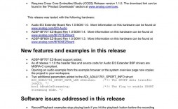 003 Impressive Software Release Note Template Picture  Free Download Sample Microsoft Word
