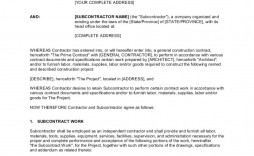 003 Impressive Subcontractor Agreement Template Free Design  Construction Word