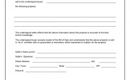 003 Impressive Template For Bill Of Sale Picture  Example Trailer Free Mobile Home Used Car