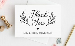 003 Impressive Thank You Note Template Printable Photo  Letter Baby Card Word
