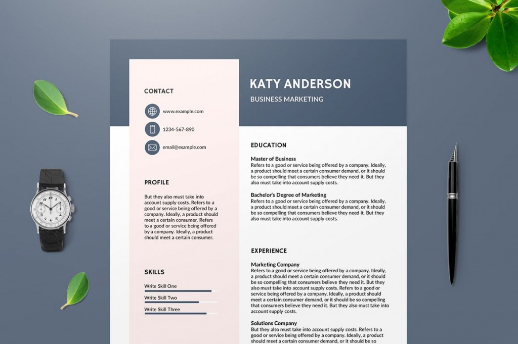 003 Impressive Unique Resume Template Free Photo  Cool Download Creative Pdf AwesomeLarge