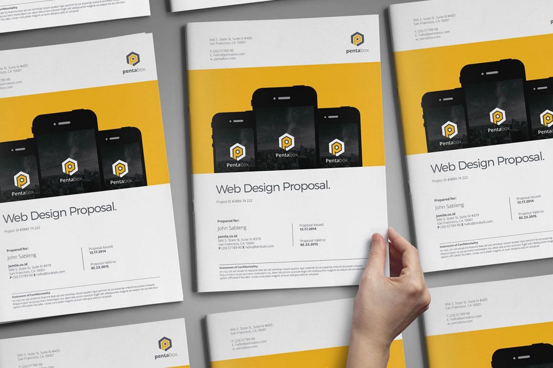 003 Impressive Web Design Proposal Template Free Download Picture 1920