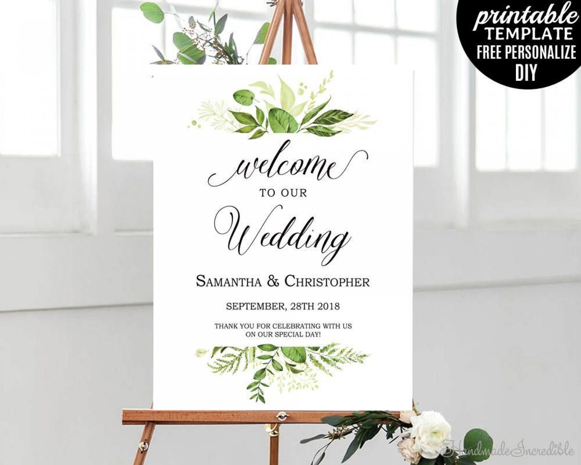 003 Impressive Wedding Welcome Sign Template Free High Definition 1920