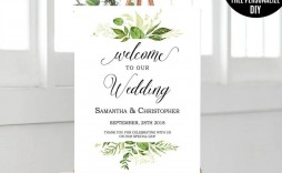 003 Impressive Wedding Welcome Sign Template Free High Definition