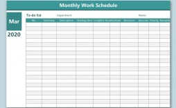 003 Impressive Work Schedule Format In Excel Download High Definition  Template Employee Training Plan Free