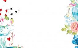 003 Incredible Alice In Wonderland Tea Party Template Design  Templates Invitation Free