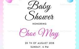 003 Incredible Baby Shower Invite Template Word Sample  Work Invitation Wording Format In M Free Microsoft