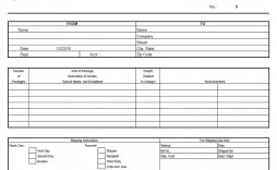 003 Incredible Bill Of Lading Template Excel High Resolution  Simple House Format In