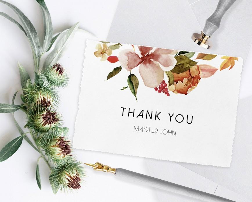 003 Incredible Diy Wedding Thank You Card Template High Resolution  Templates