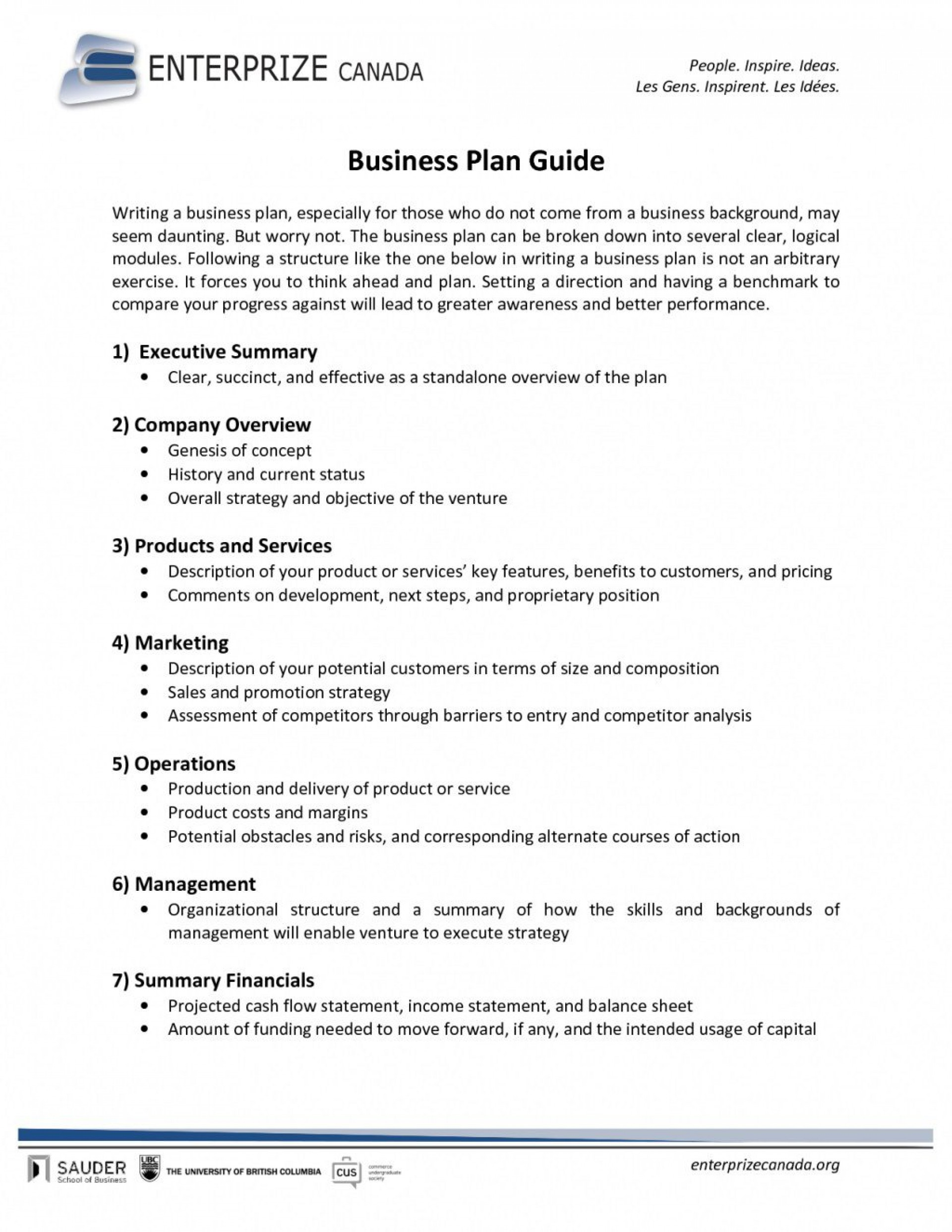 003 Incredible Free Busines Plan Template Word High Resolution  Download Document Sample Doc1920