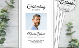 003 Incredible Free Editable Celebration Of Life Program Template High Def