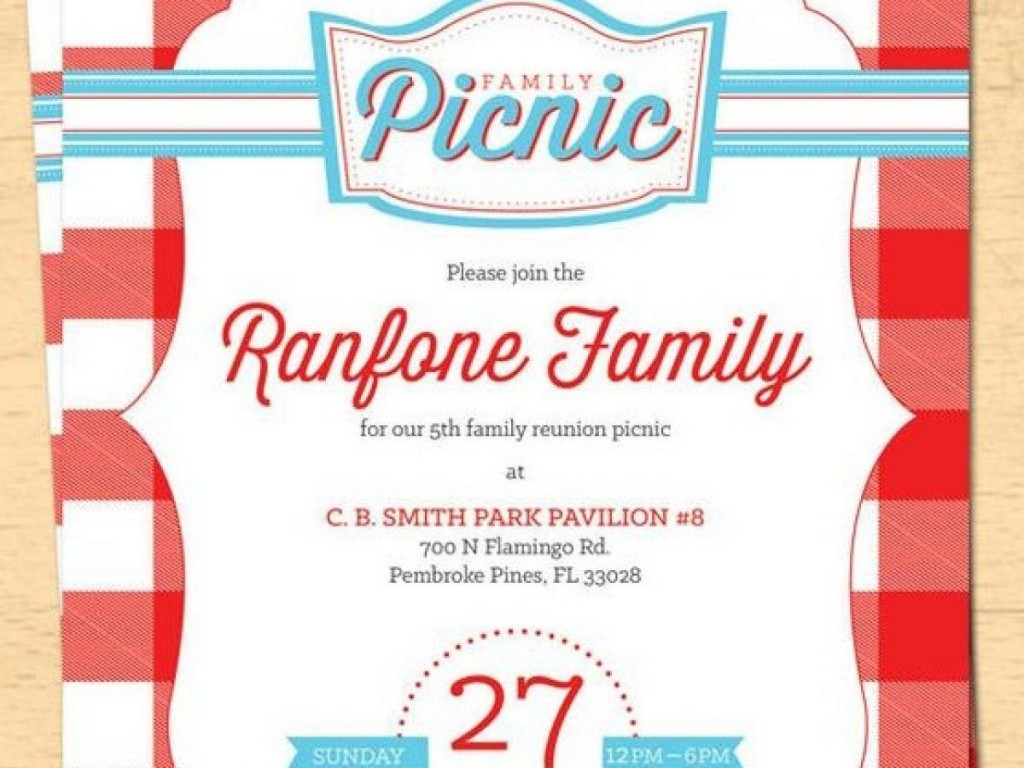 003 Incredible Free Family Reunion Flyer Template Word Photo Large