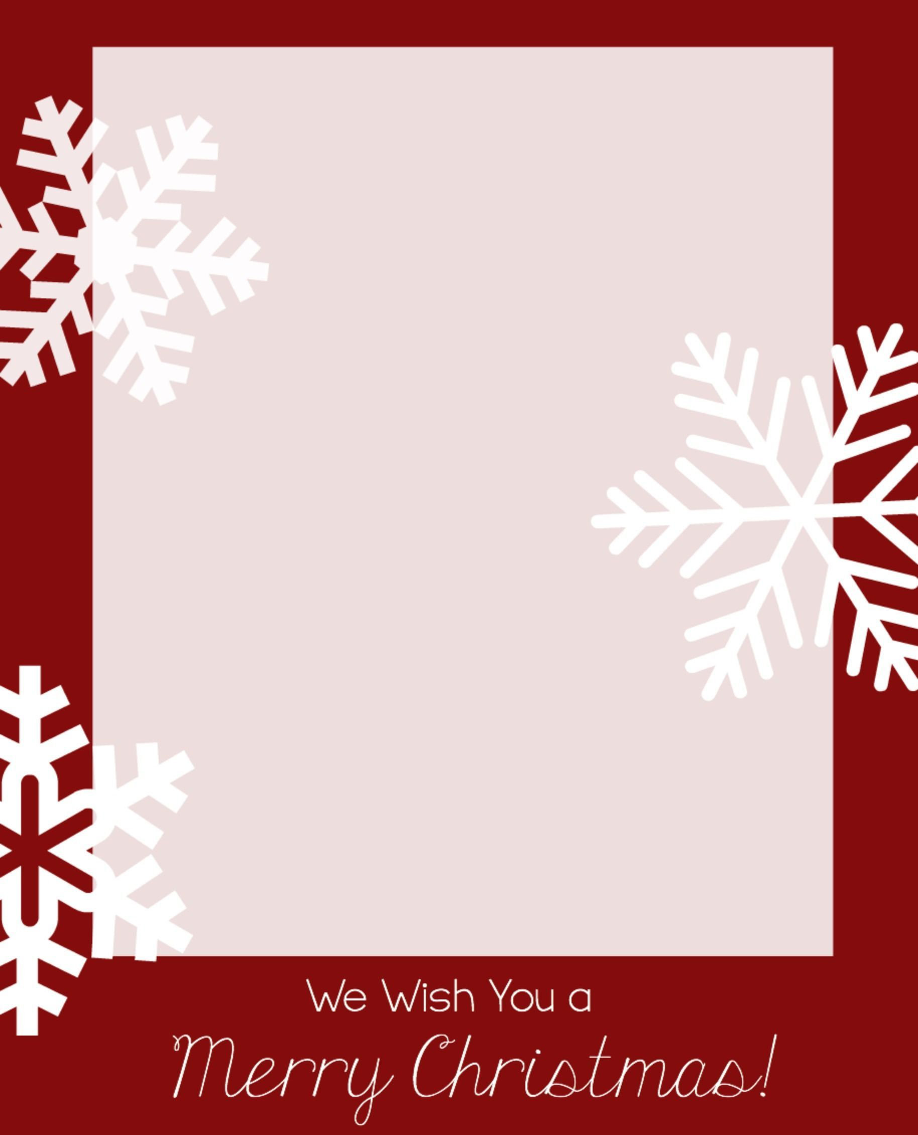 003 Incredible Free Holiday Card Template Concept  Templates Printable Photo For WordFull