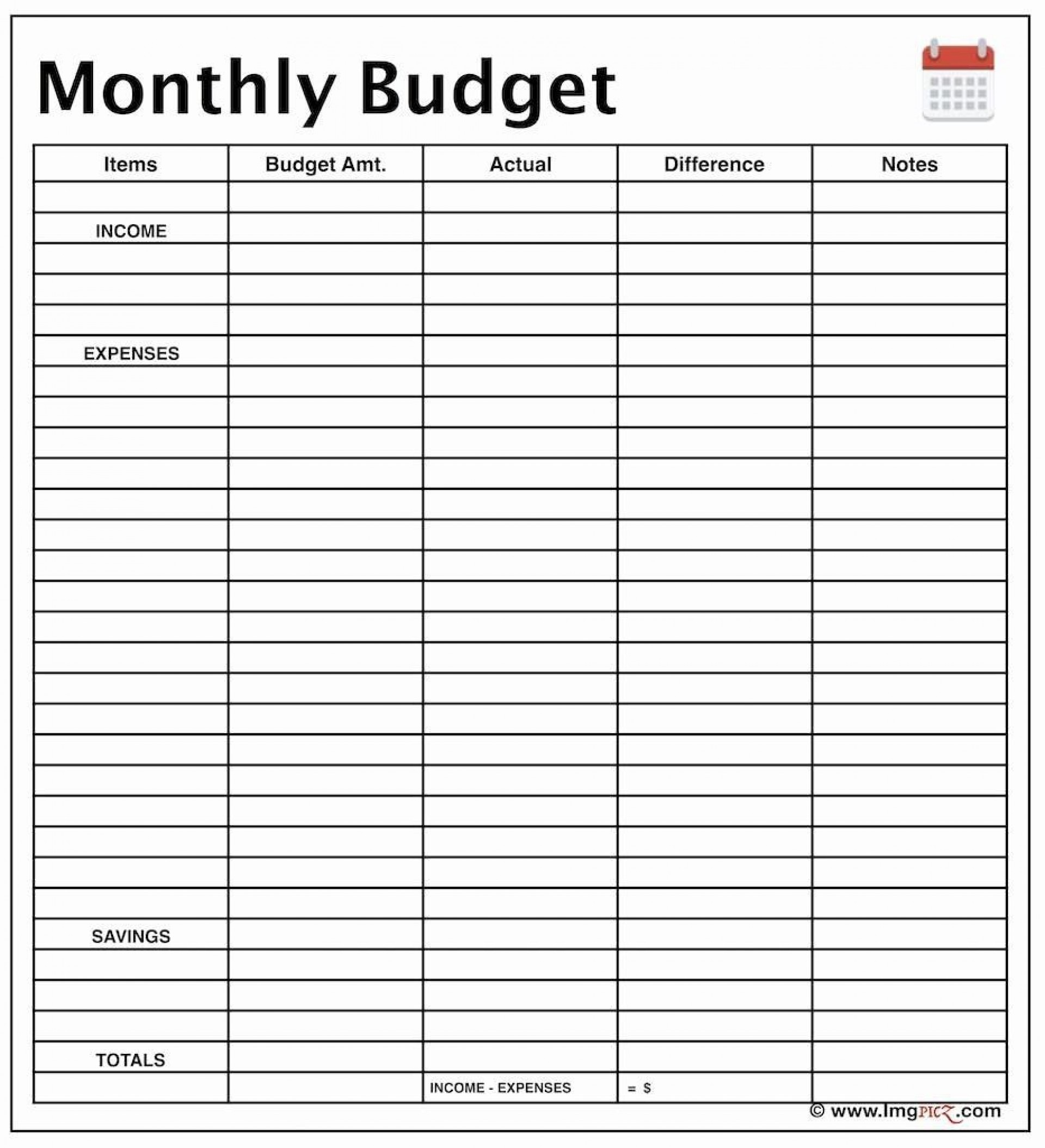 003 Incredible Free Monthly Home Budget Template Concept  Household Simple Excel1920
