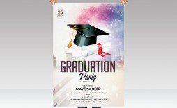 003 Incredible Graduation Party Flyer Template Free Psd Image