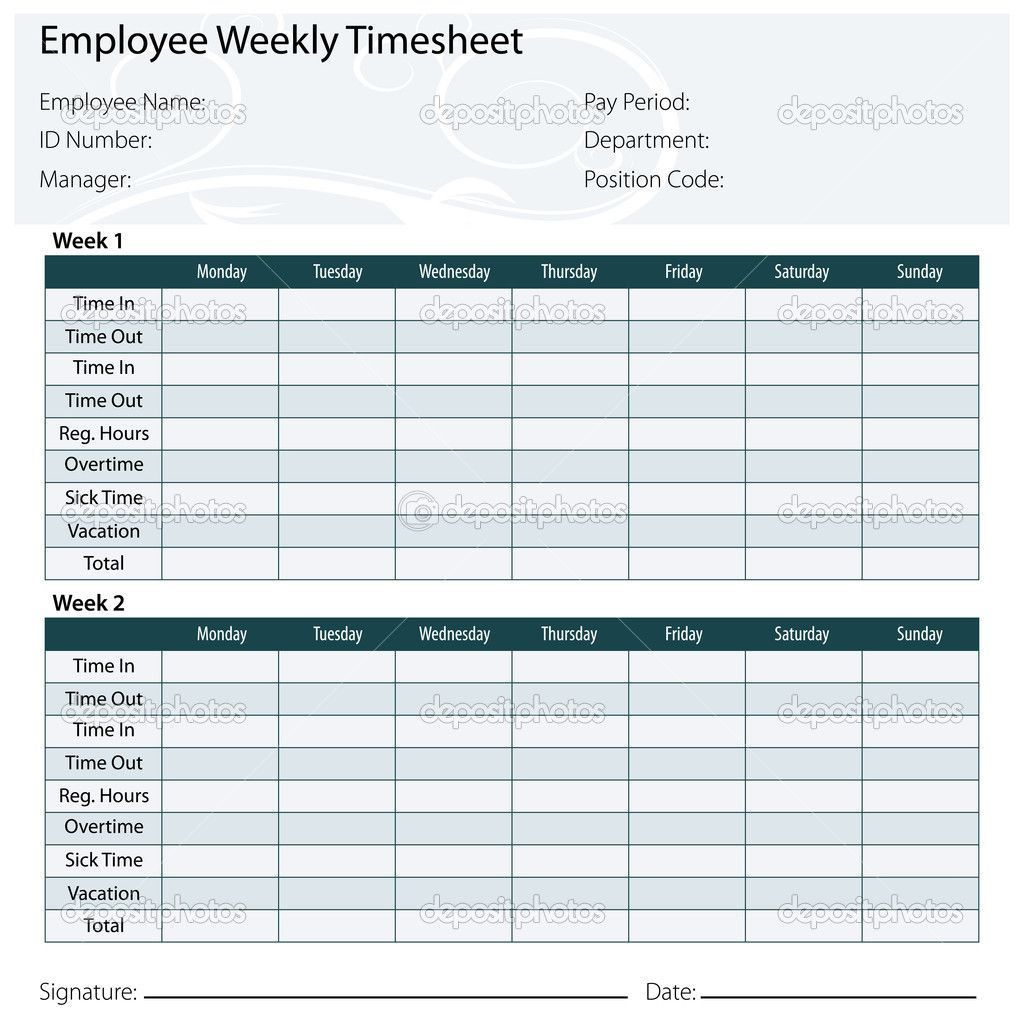 003 Incredible Monthly Timesheet Excel Template Example  Multiple Employee Free Semi-monthly 2020Full