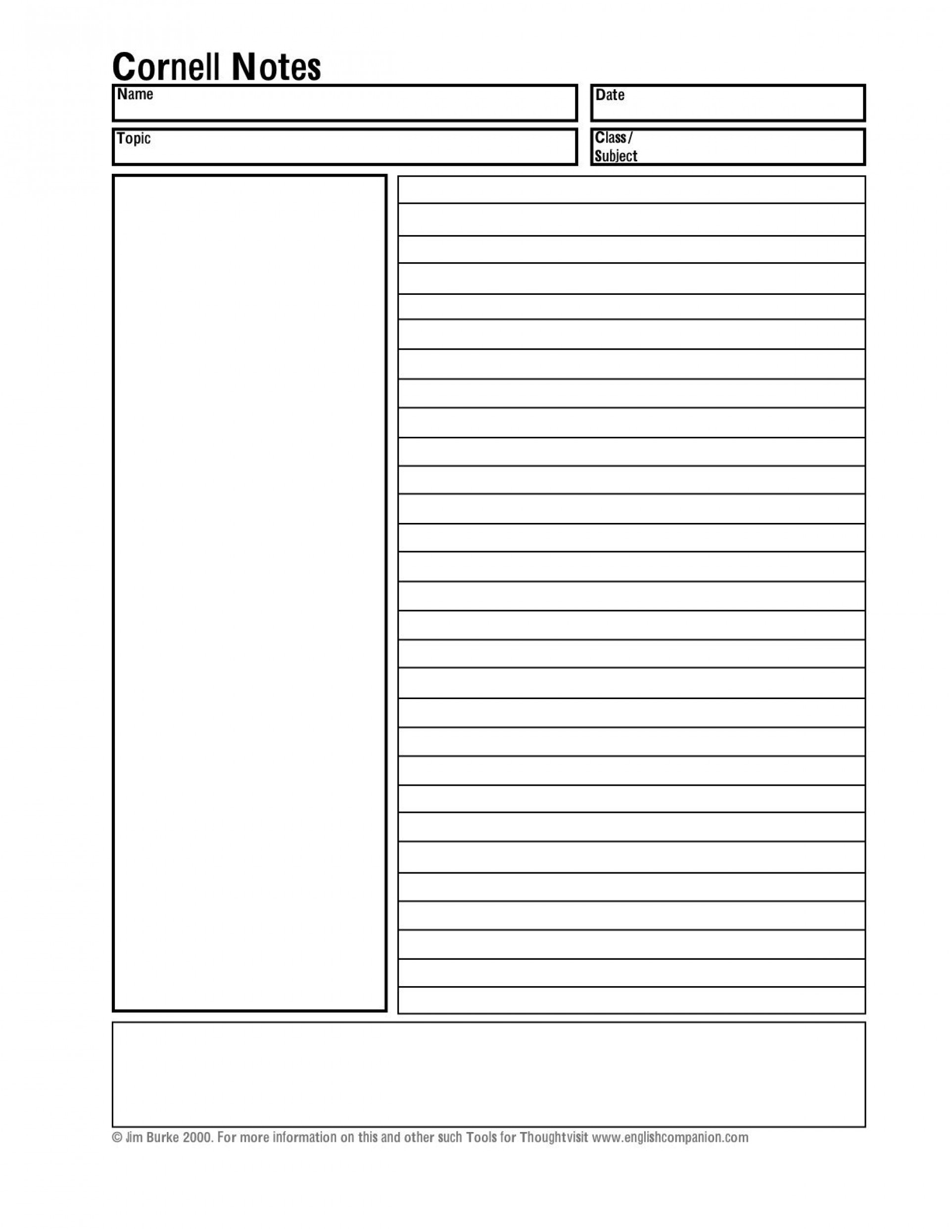003 Incredible Note Taking Template Pdf Highest Clarity  Free Cornell Example1920