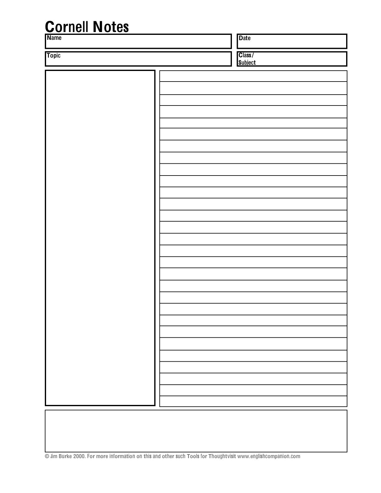 003 Incredible Note Taking Template Pdf Highest Clarity  Free Cornell ExampleFull