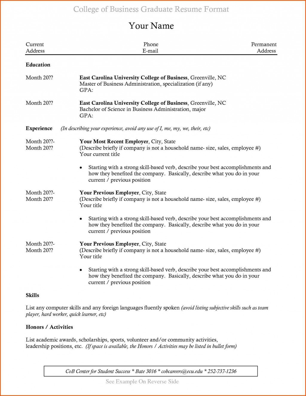 003 Incredible Recent College Graduate Resume Template Sample  WordLarge