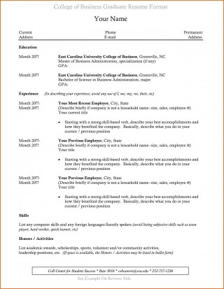 003 Incredible Recent College Graduate Resume Template Sample  Word320
