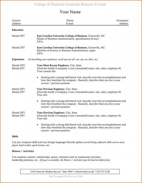003 Incredible Recent College Graduate Resume Template Sample  Word480