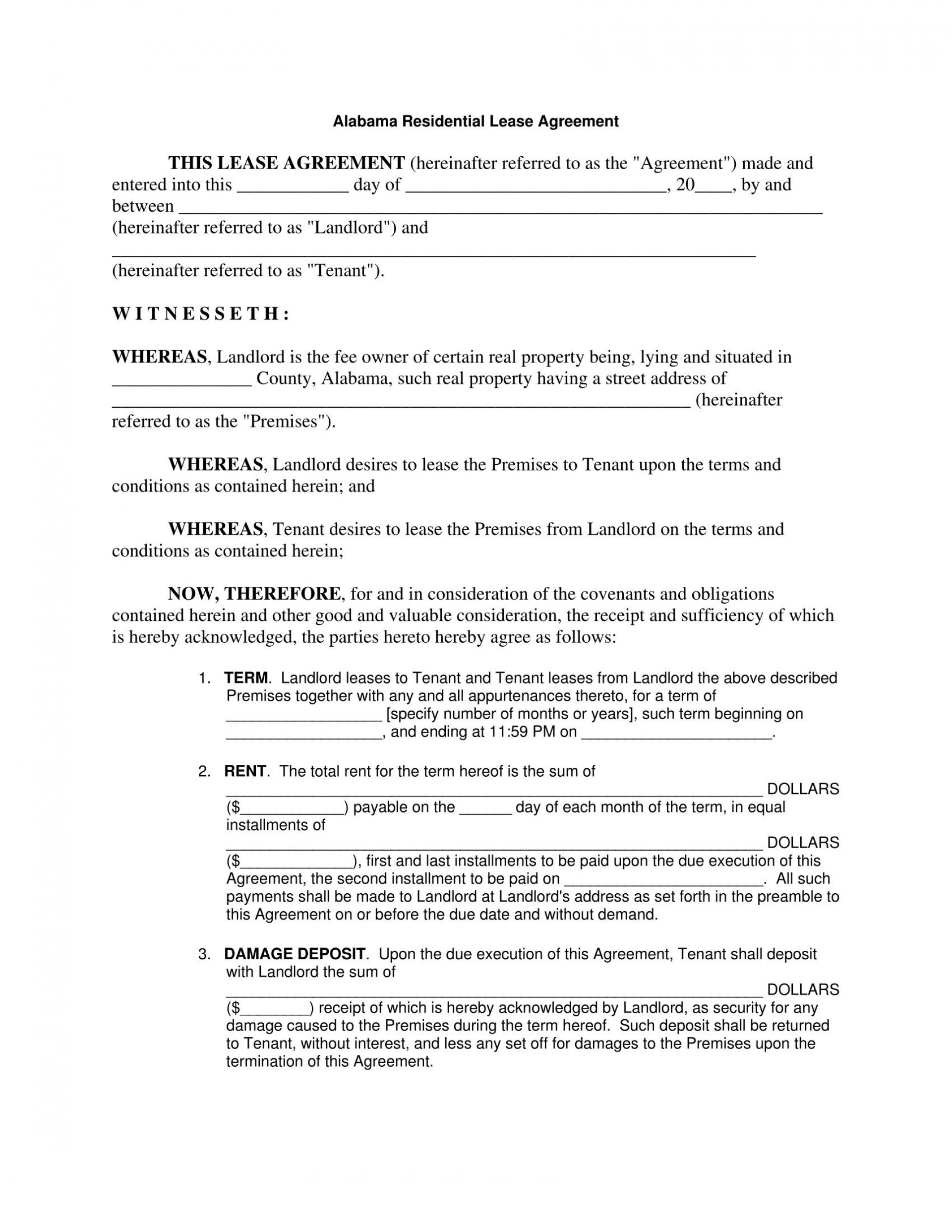 003 Incredible Rental Agreement Template Free Example  Lease Format Bangalore Download Word South Africa Room Doc1920