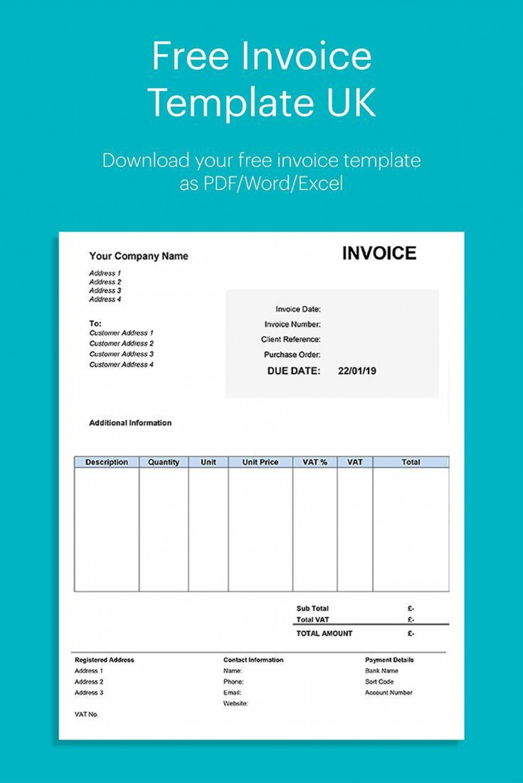 003 Incredible Self Employed Invoice Template Uk Pdf Image Large
