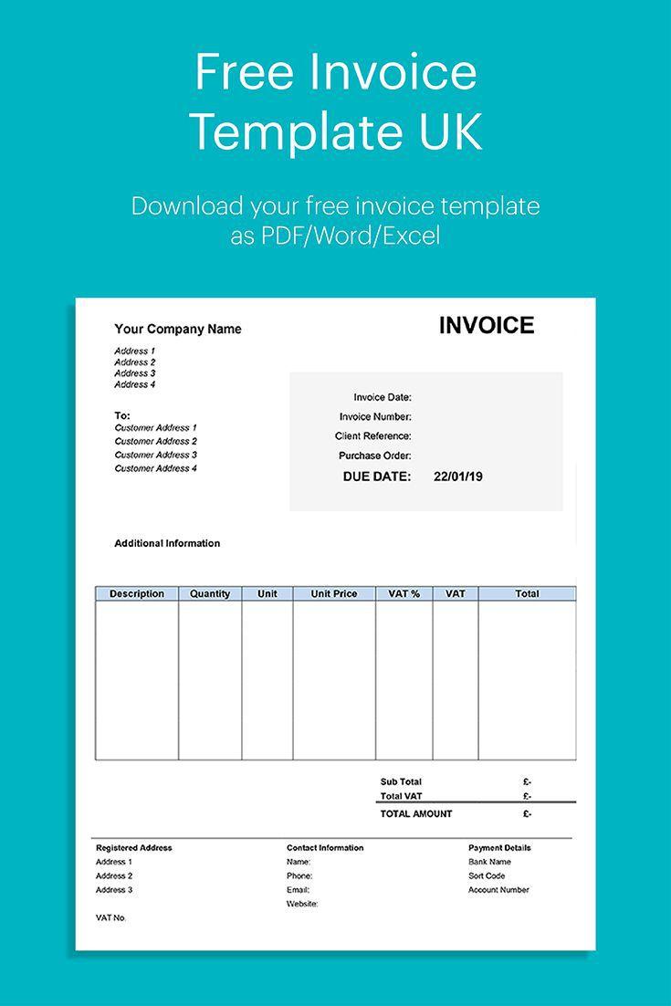 003 Incredible Self Employed Invoice Template Uk Pdf Image Full