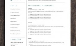 003 Incredible Teacher Resume Template Free Picture  Cv Word Download Editable Format Doc