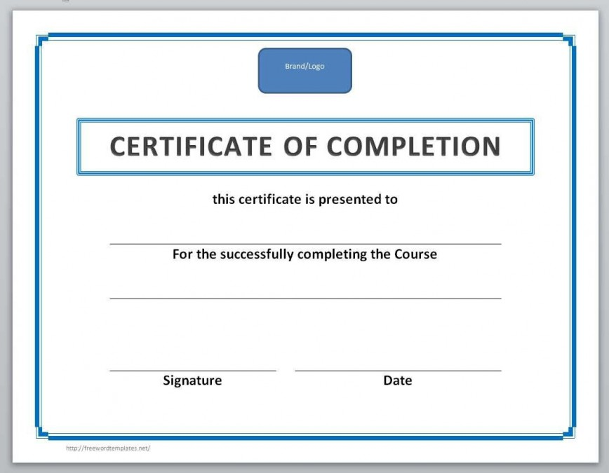 003 Incredible Training Certificate Template Free Image  Word Download Doc