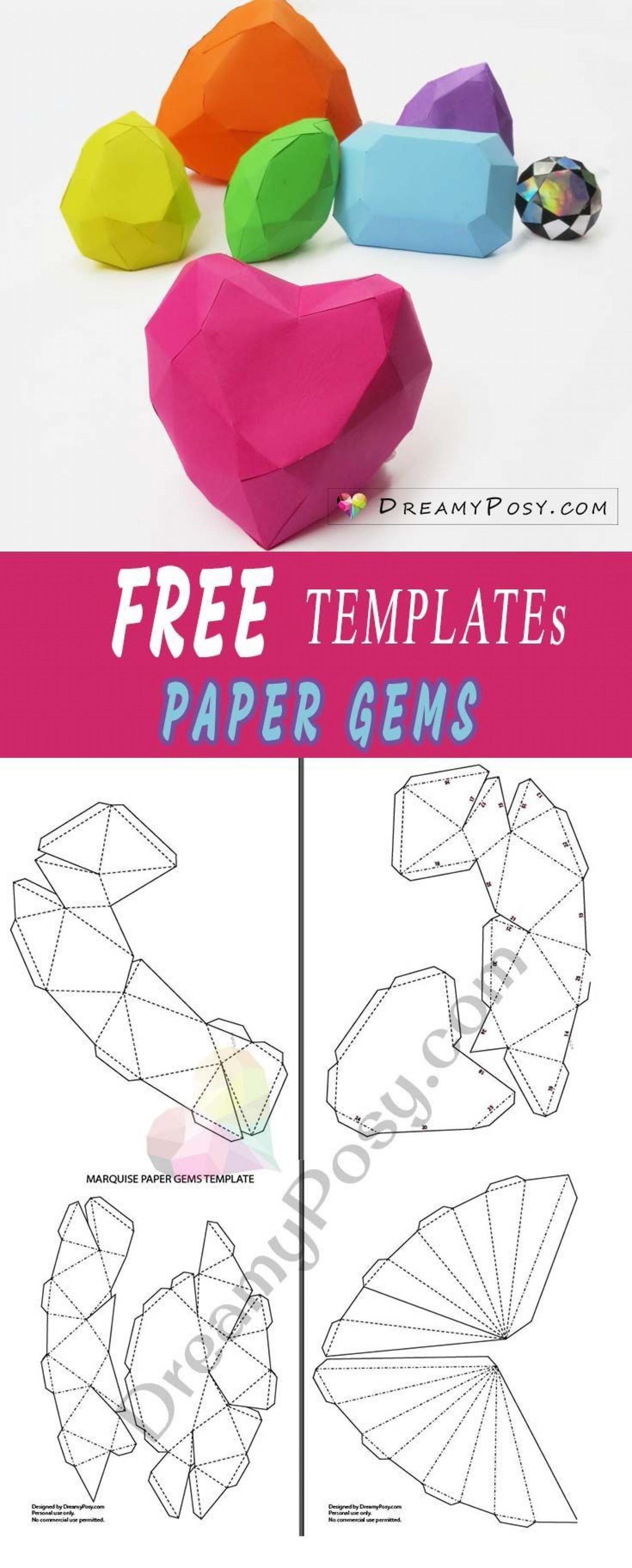 003 Magnificent 3d Paper Art Template Inspiration  Templates Pdf1920