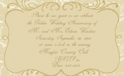 003 Magnificent 50th Wedding Anniversary Invitation Card Template Image  Templates Sample