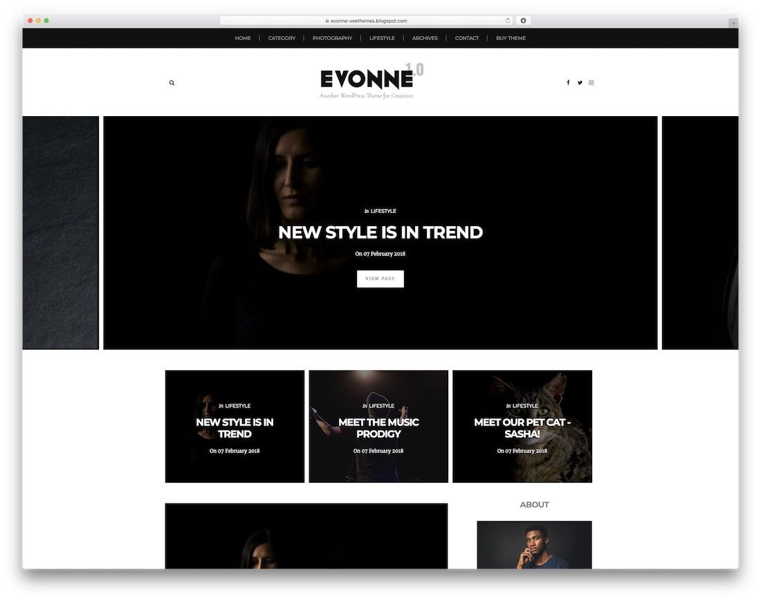 003 Magnificent Best Free Responsive Blogger Template 2019 Inspiration Full