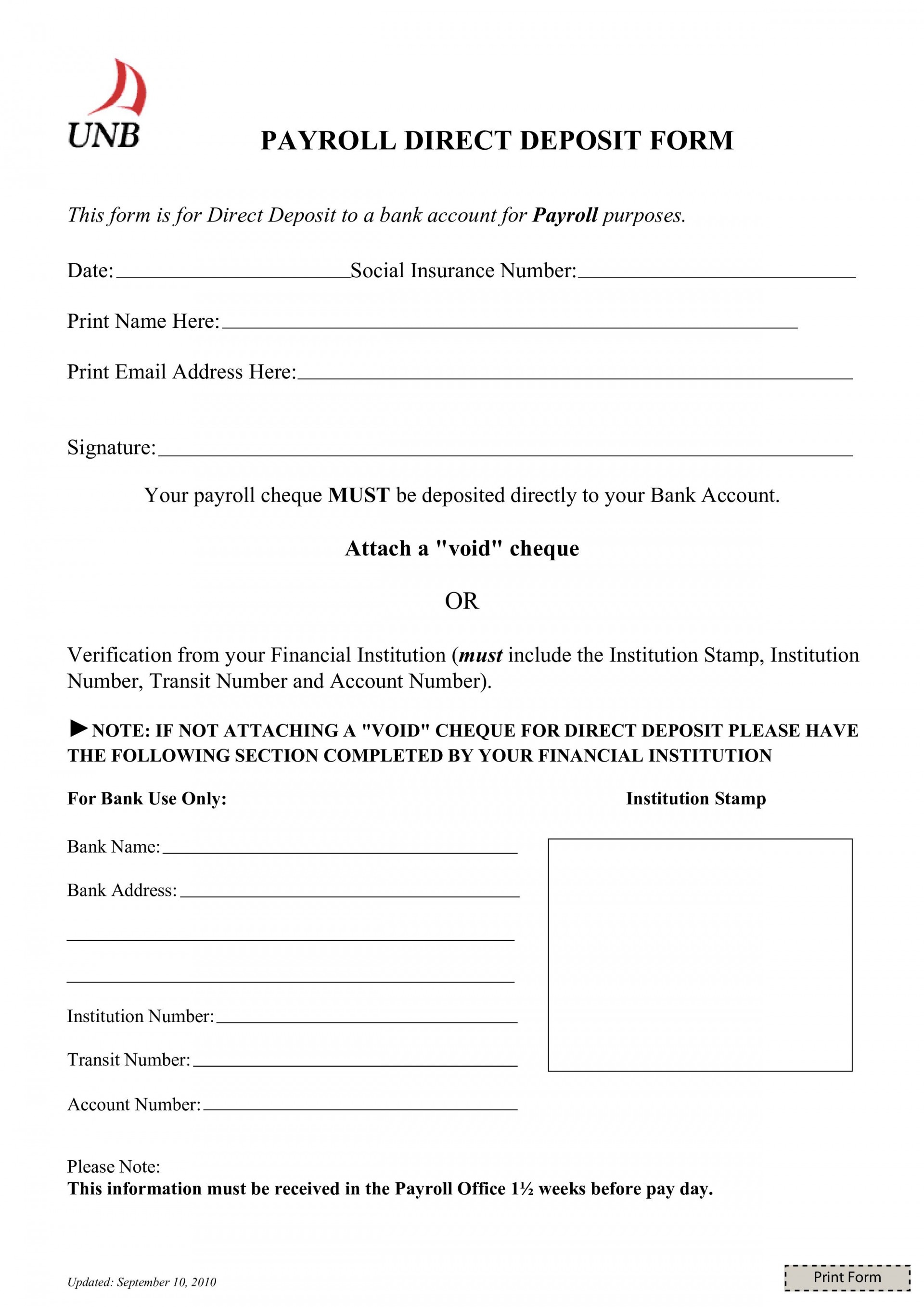 003 Magnificent Direct Deposit Form Template High Definition  Multiple Account Ach Authorization1920