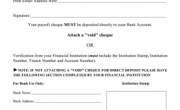 003 Magnificent Direct Deposit Form Template High Definition  Multiple Account Ach Authorization