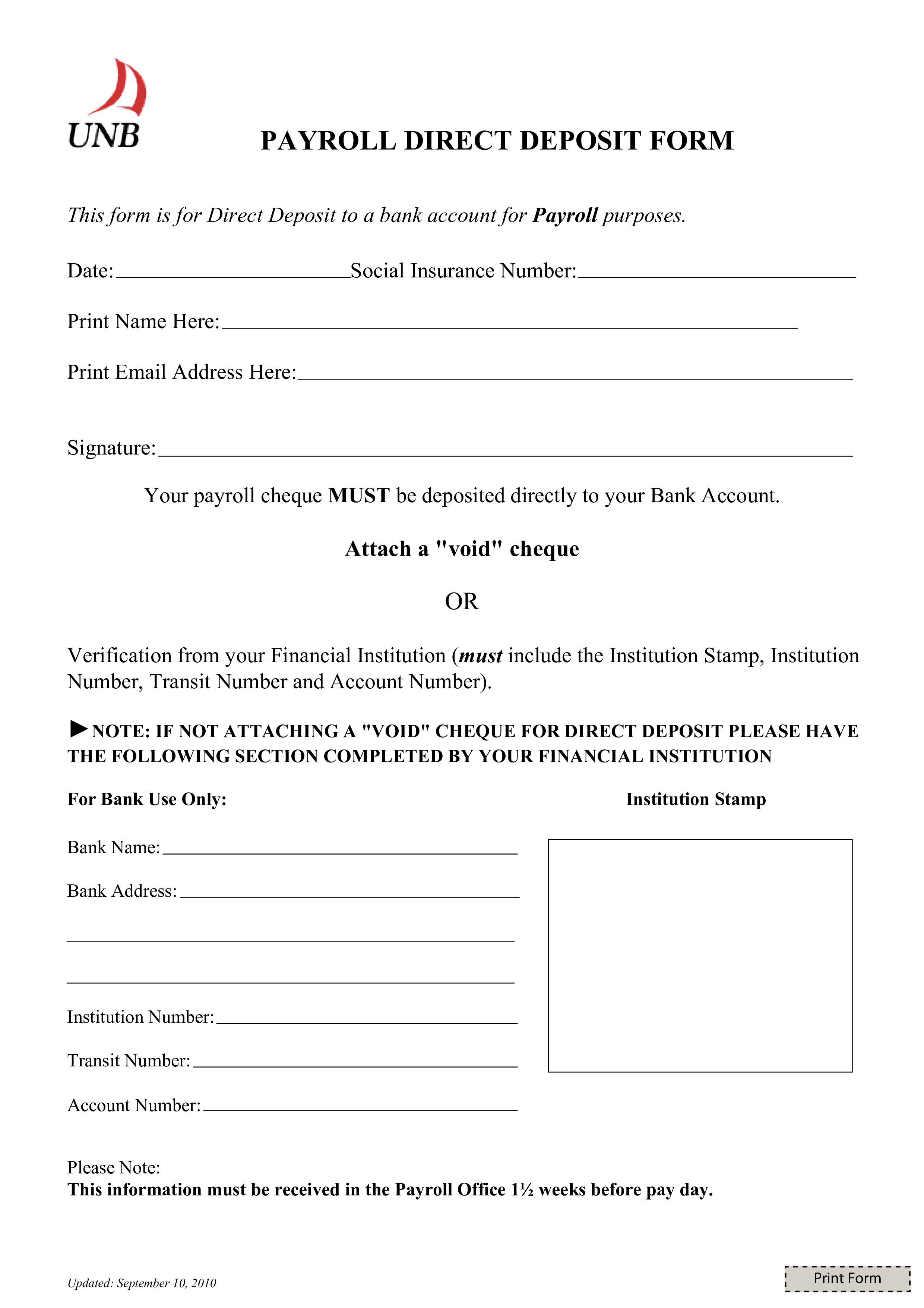 003 Magnificent Direct Deposit Form Template High Definition  Multiple Account Ach AuthorizationFull