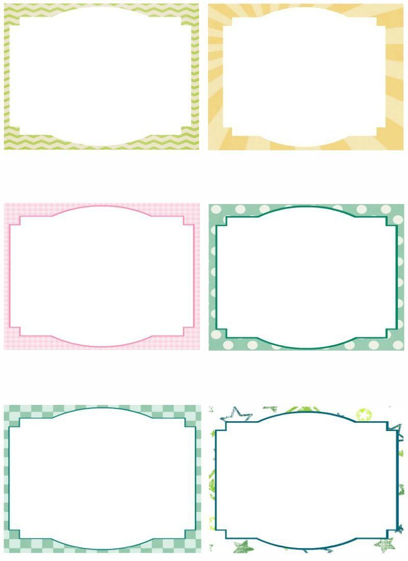 003 Magnificent Free Index Card Template High Resolution  Printable EditableFull