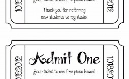 003 Magnificent Free Printable Concert Ticket Clipart High Definition