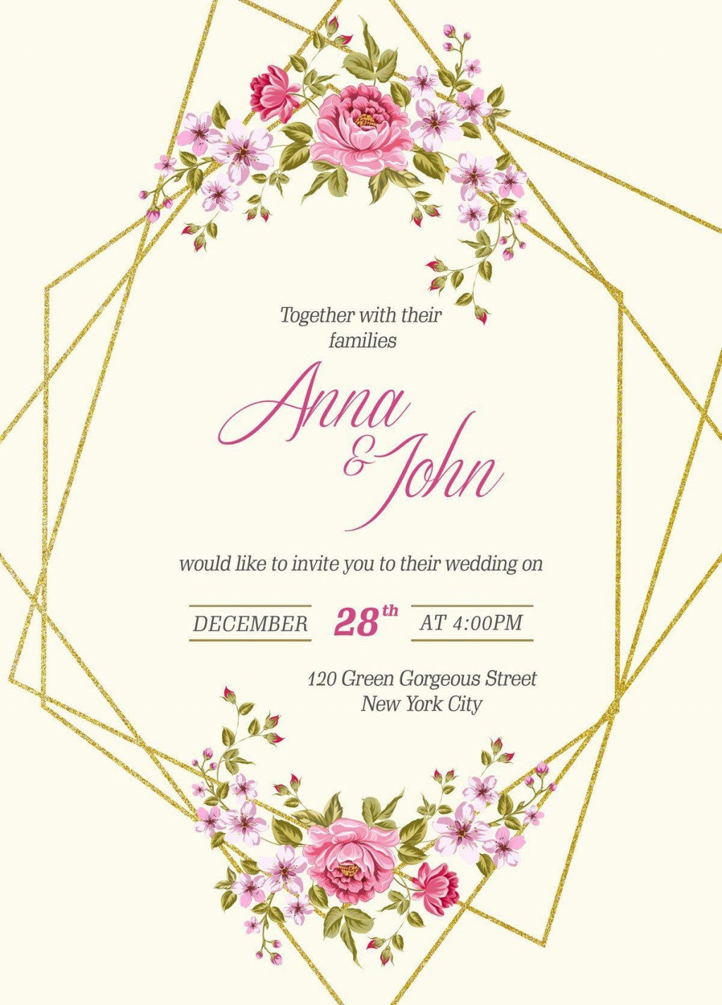003 Magnificent Free Wedding Invitation Template Printable Picture  For Microsoft Word MacLarge