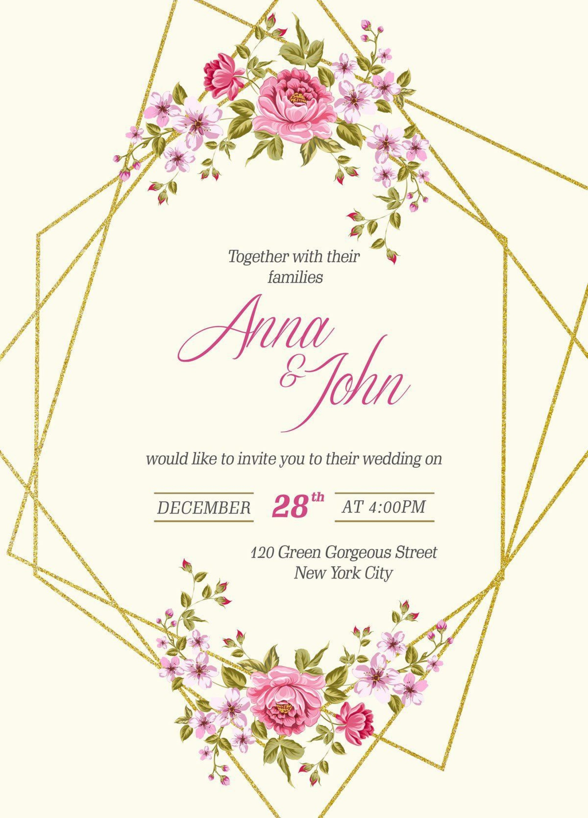 003 Magnificent Free Wedding Invitation Template Printable Picture  For Microsoft Word Mac1920