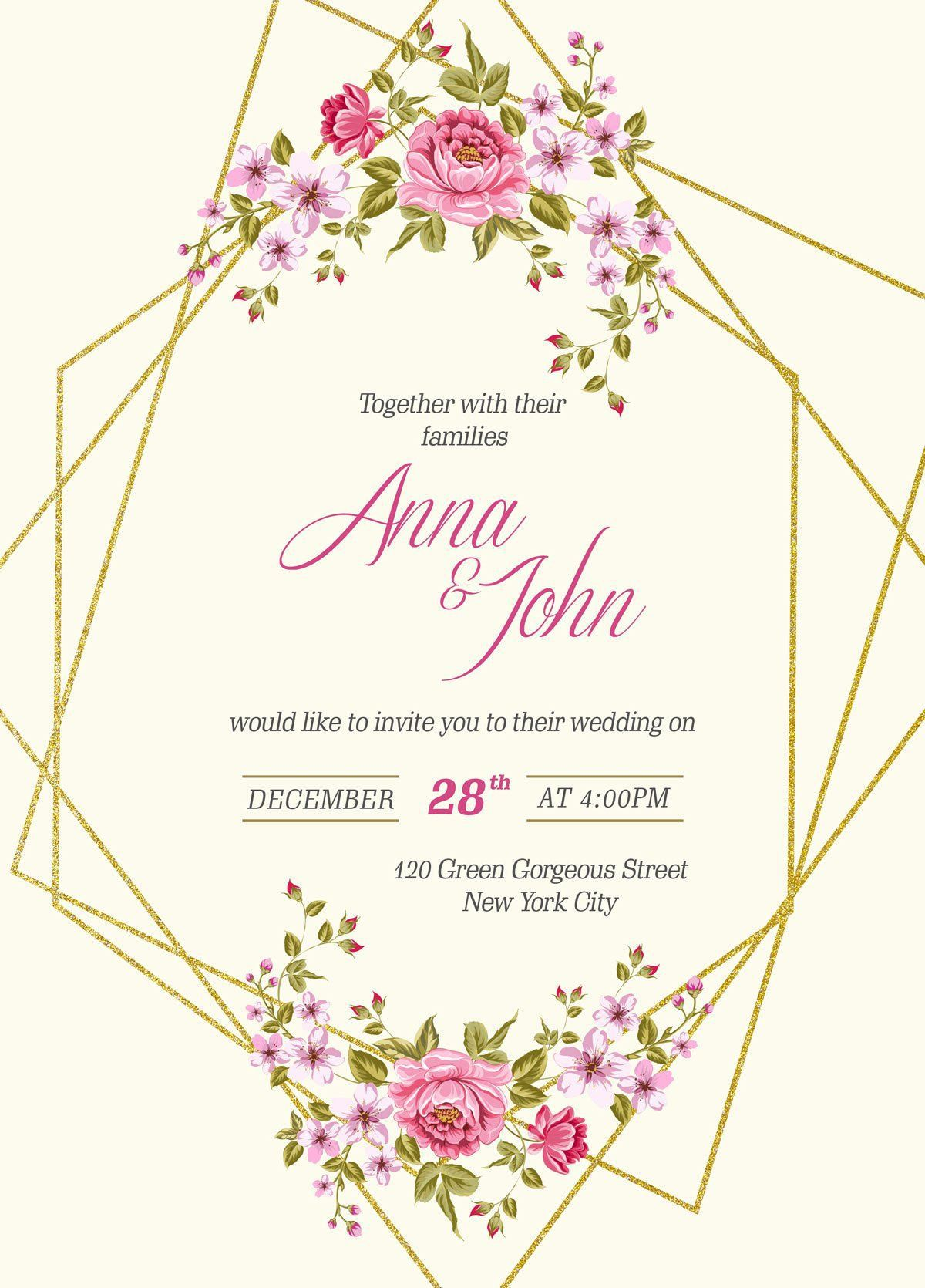 003 Magnificent Free Wedding Invitation Template Printable Picture  For Microsoft Word MacFull
