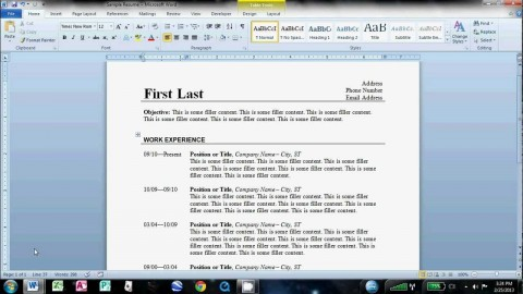 003 Magnificent How To Create A Resume Template In Word 2007 Sample  Make480