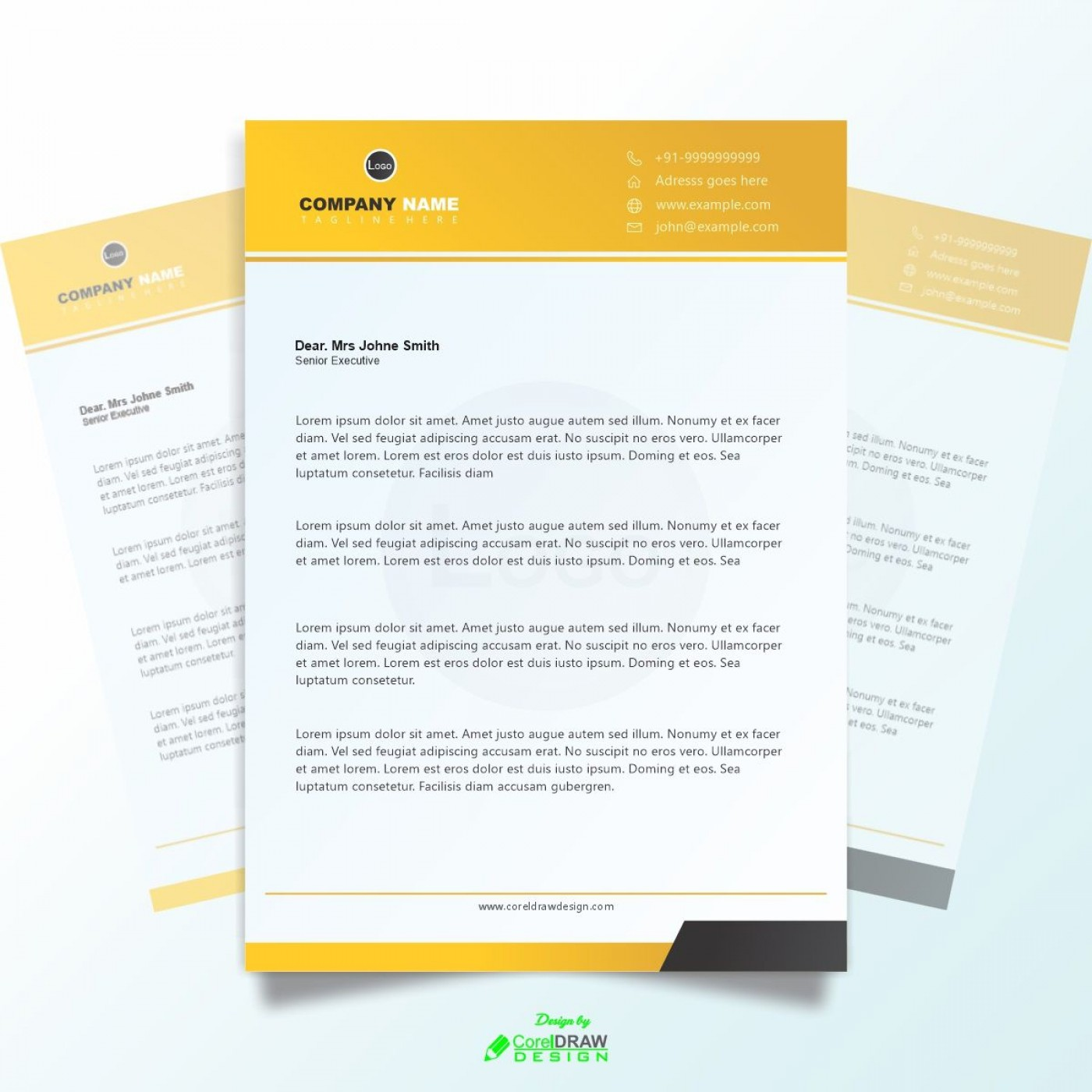 003 Magnificent Letterhead Template Free Download Cdr Design 1400