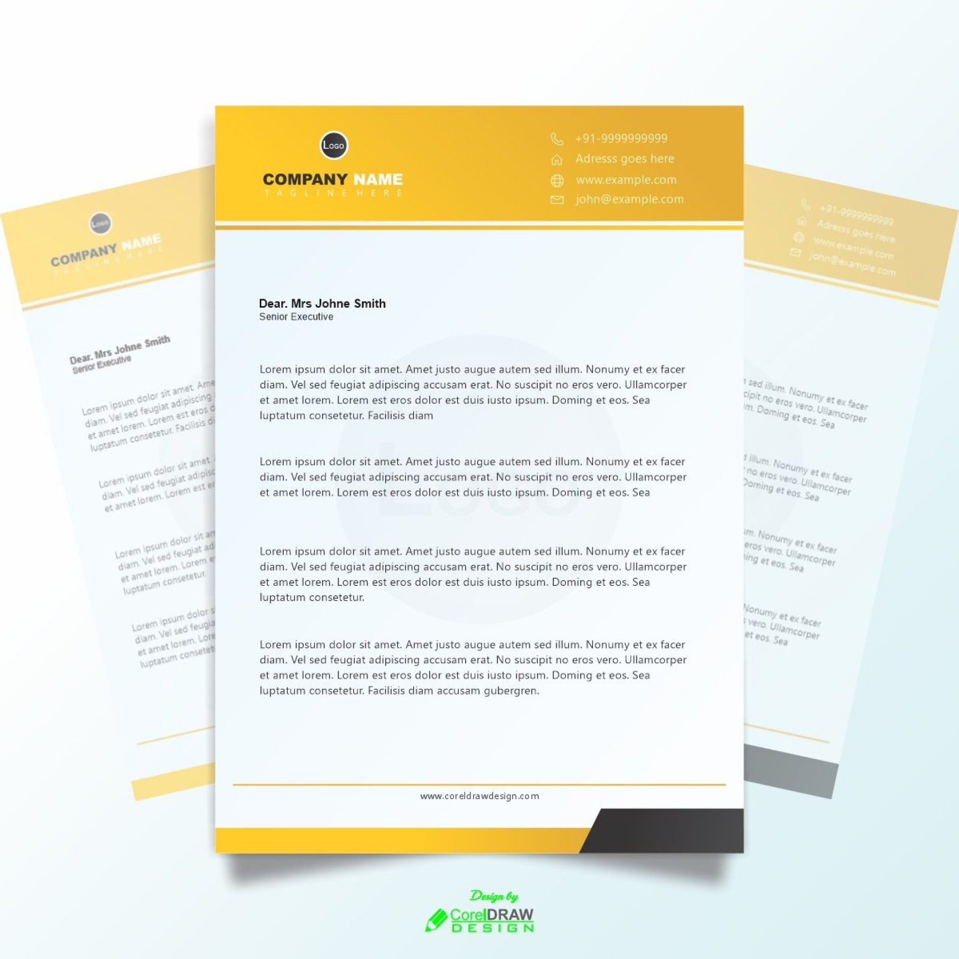 003 Magnificent Letterhead Template Free Download Cdr Design 1920
