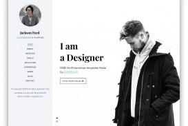 003 Magnificent Personal Website Template Bootstrap Design  4 Free Download Portfolio